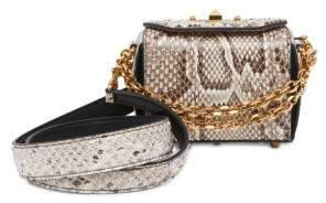 Alexander McQueen Box Bag Python Satchel 16