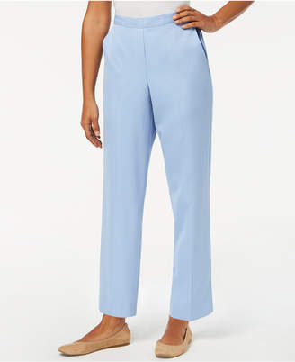 Alfred Dunner Petite Daydreamer Pull-On Flat-Front Pants