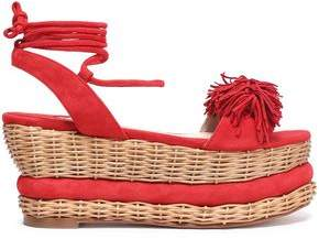 Paloma Barceló Nance Fringed Suede Platform Sandals