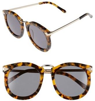 Women's Karen Walker 'Super Lunar - Arrowed By Karen' 52Mm Sunglasses - Crazy Tort/ Gold $300 thestylecure.com
