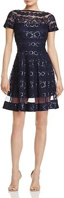 Tadashi Shoji Sequin Fit-and-Flare Dress $408 thestylecure.com