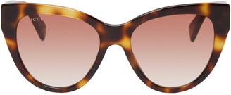 10598ef32ad Gucci Havana Cat Eye Sunglasses - ShopStyle