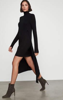 BCBGMAXAZRIA Kabrina Asymmetrical Turtleneck Dress