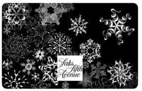 Saks Fifth Avenue Snowflake Holiday Gift Card