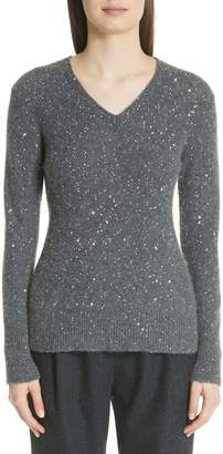 Fabiana Filippi Sequin Merino Wool, Silk & Cashmere Blend Sweater
