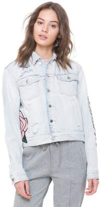 Juicy Couture Sequin Dreamer Patch Denim Jacket
