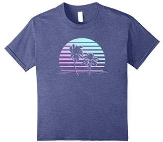 Pastel Goth California Sunset Tshirt - Aesthetic Palm Tree