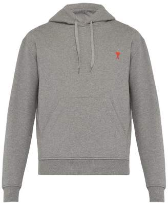 Ami Logo Heart Cotton Sweatshirt - Mens - Grey