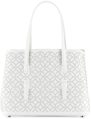 Alaia Studded Mini Tote Bag, White