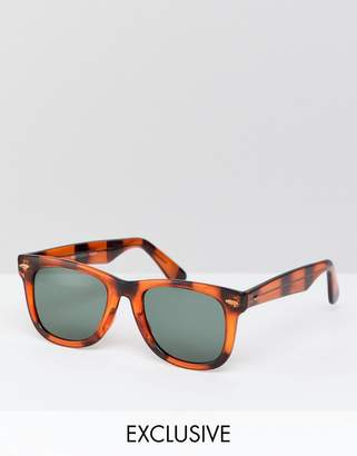 Reclaimed Vintage Inspired Square Sunglasses In Tort Exclusive To ASOS