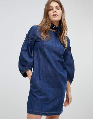 Esprit Balloon Sleeve Denim Dress