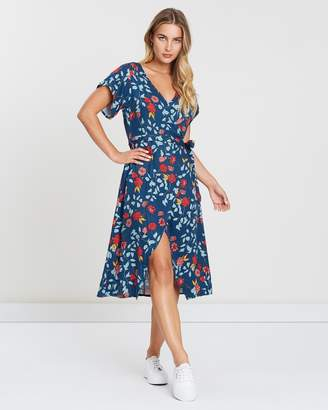 All About Eve Camellia Mock Wrap Dress
