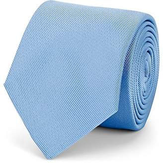 Barneys New York Men's Silk-Cotton Faille Necktie - Lt. Blue