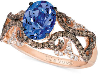 LeVian Tanzanite (1 ct. t.w.) and Diamond (5/8 ct. t.w.) Ring in 14k Rose Gold
