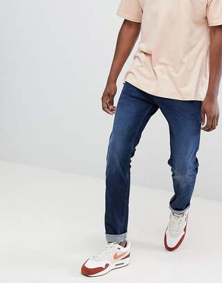 Replay Anbass slim power stretch jeans in dark wash