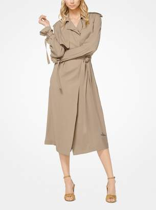 Michael Kors Silk-Georgette Trench Dress