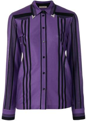 Bottega Veneta dark lilac nero cotton shirt