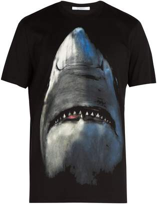 Givenchy Cuban-fit Shark-print cotton T-shirt