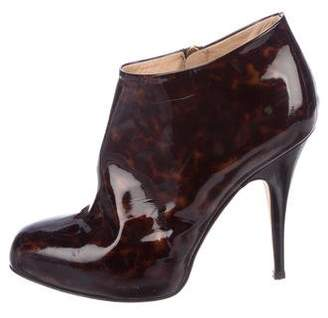 Giuseppe Zanotti Patent Leather Pointed-Toe Booties