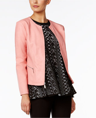 Alfani Faux-Leather Jacket, Only at Macy's $99.50 thestylecure.com