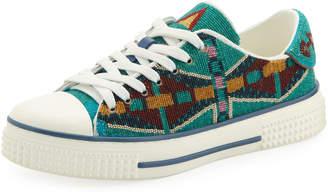 Valentino Southwestern Canvas Sneakers