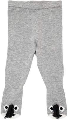 Stella McCartney Donkeys Cotton Knit Footed Legging
