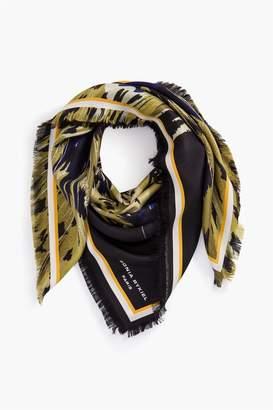 Sonia Rykiel Leopard Silk Twill Square Scarf