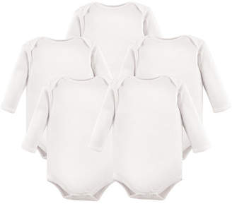 Baby Vision Luvable Friends Long-Sleeve Bodysuits, 5-Pack, White