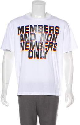 Stella McCartney 'Members Only' Graphic T-Shirt w/ Tags white 'Members Only' Graphic T-Shirt w/ Tags