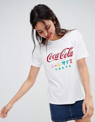 Stradivarius coca cola tee with japanese text