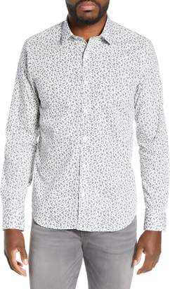 Jeff Jordan Slim Fit Floral Print Sport Shirt