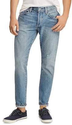 Polo Ralph Lauren Hi Tech Varick Straight Slim Jeans in Blue - 100% Exclusive