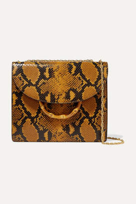Loeffler Randall Marla Snake-effect Leather Shoulder Bag - Yellow