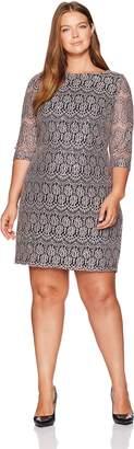 Jessica Howard JessicaHoward Women's Plus Size Lace Shift Dress