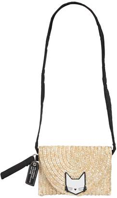 Karl Lagerfeld Choupette Straw Shoulder Bag