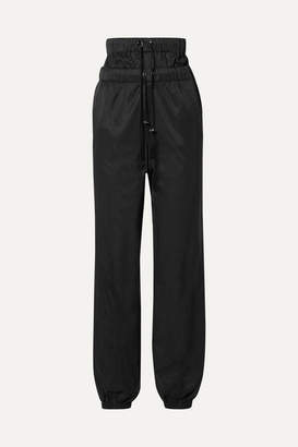 TRE by Natalie Ratabesi - The Flo Layered Satin-jersey Track Pants - Black