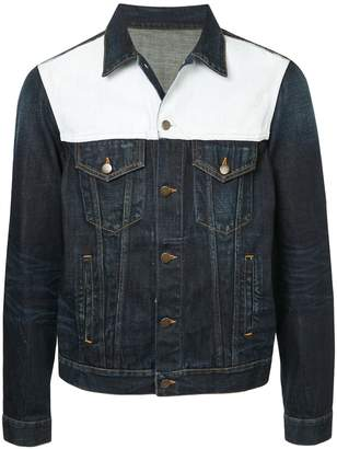 Ports V colour block panel denim jacket