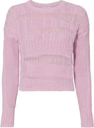Intermix Leilani Mixed Cable Knit Sweater