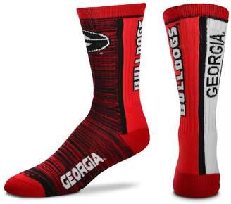 For Bare Feet Adult Georgia Bulldogs Bar Stripe Crew Socks