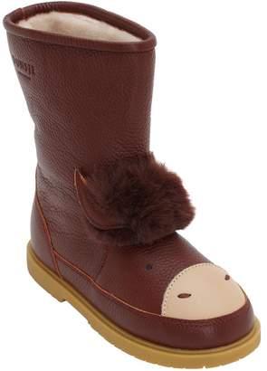 Buffalo David Bitton Donsje Leather Boots W/ Faux Fur