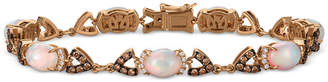 LeVian Le Vian Chocolatier Opal (4-1/5 ct. t.w.) and Diamond (1-1/2 ct. t.w.) Link Bracelet in 14k Rose Gold, Created for Macy's