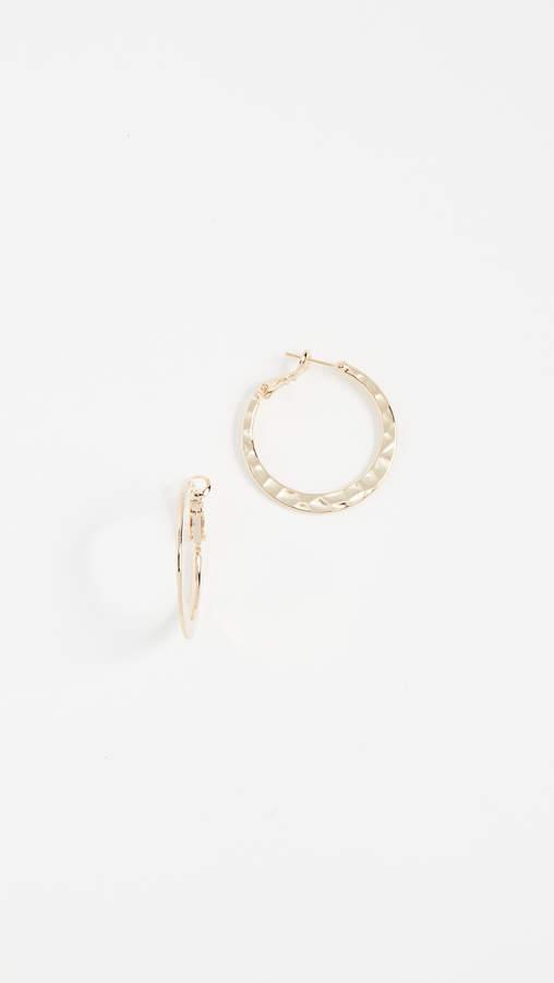 Theia Jewelry Hammered Hoop Earrings