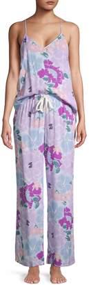 Natori 2-Piece Floral Camisole Pajama Set