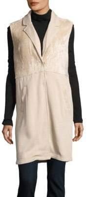 Bobi Notch-Lapel Faux-Fur Vest