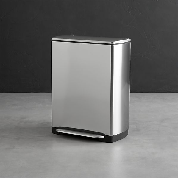 Simplehuman Stainless Steel Rectangular Recycle-Trash Can. 12 gal. (46 lit.)