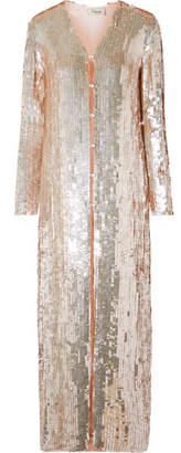 Temperley London Bardot Sequined Chiffon Coat - Pastel pink