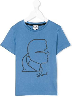 Karl Lagerfeld outline T-shirt