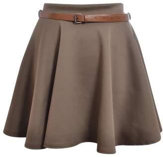 Funky Boutique Women's Skater Skirt Flared Mini Frankie Belted Short Dress 8-14 8-10 SM