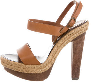 Christian Louboutin Leather Espadrille Sandals $195 thestylecure.com