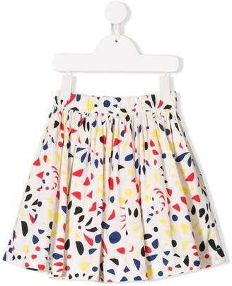 Bonpoint kids geometric print skirt